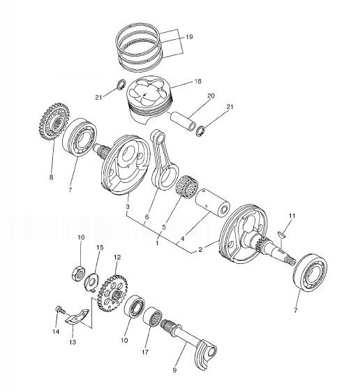 YAMAHA WR250F Crankshaft & Piston