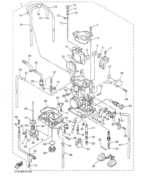 YAMAHA WR450F Carburetor