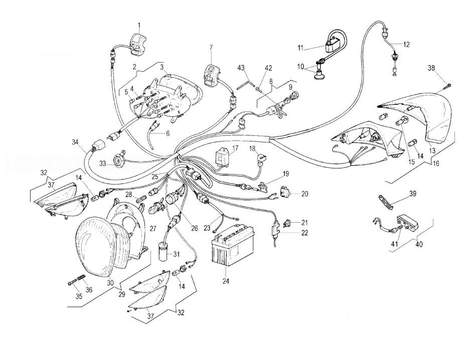 MALAGUTI CIAK 100 Electrical Parts