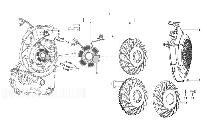 LML STAR DELUXE 150 4 STROKE Flywheel Magneto