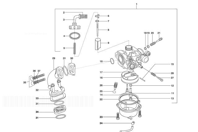LML STAR DELUXE 150 4 STROKE Carburettor