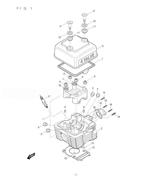 HYOSUNG RX125 Cylinder Head