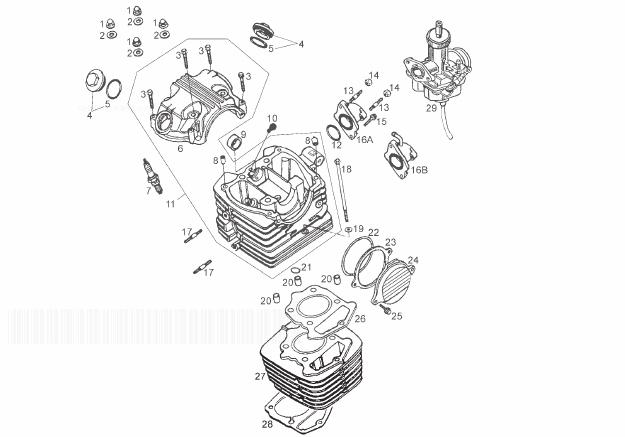 Derbi Senda 125 SM Baja E3 Cylinder