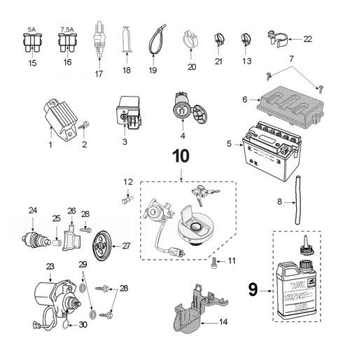PEUGEOT SPEEDFIGHT 3 50 TEAM Electric Equipment
