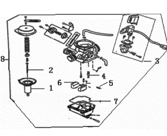 GENERIC XOR 125 Carburetor Assy