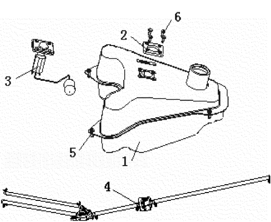 GENERIC XOR 125 Fuel Tank