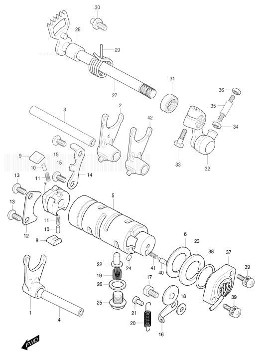 HYOSUNG GT250R-RN COMET Gear Shifting