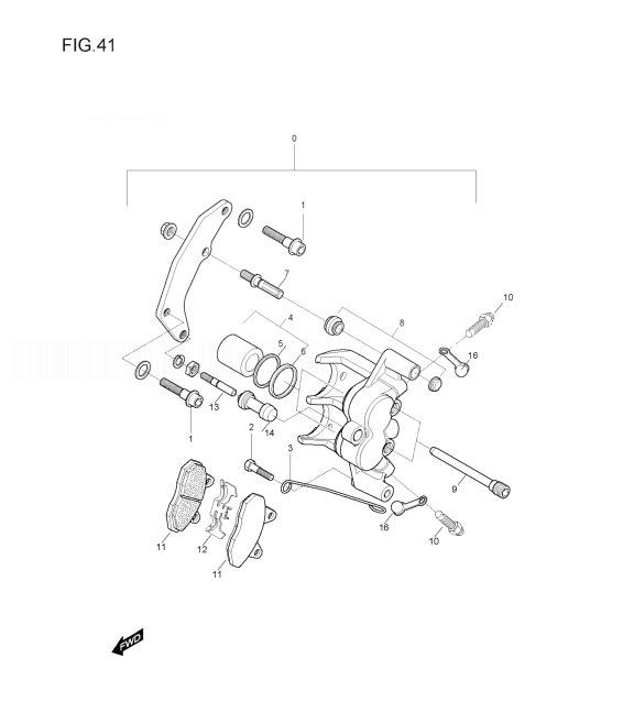 HYOSUNG GV250 AQUILA Caliper