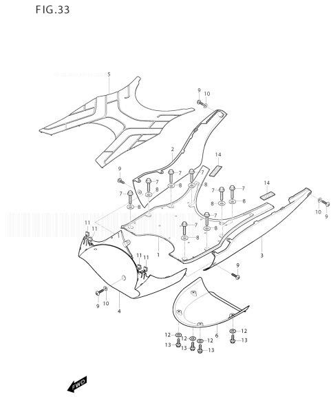 HYOSUNG MS3 125 Leg Shield Rear
