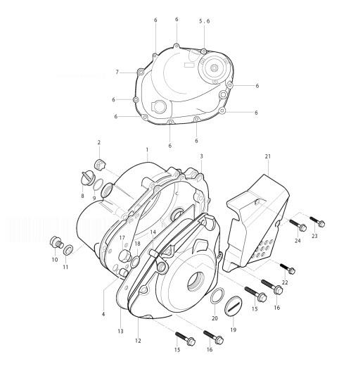 HYOSUNG RX125SM EURO 3 Crankcase Cover