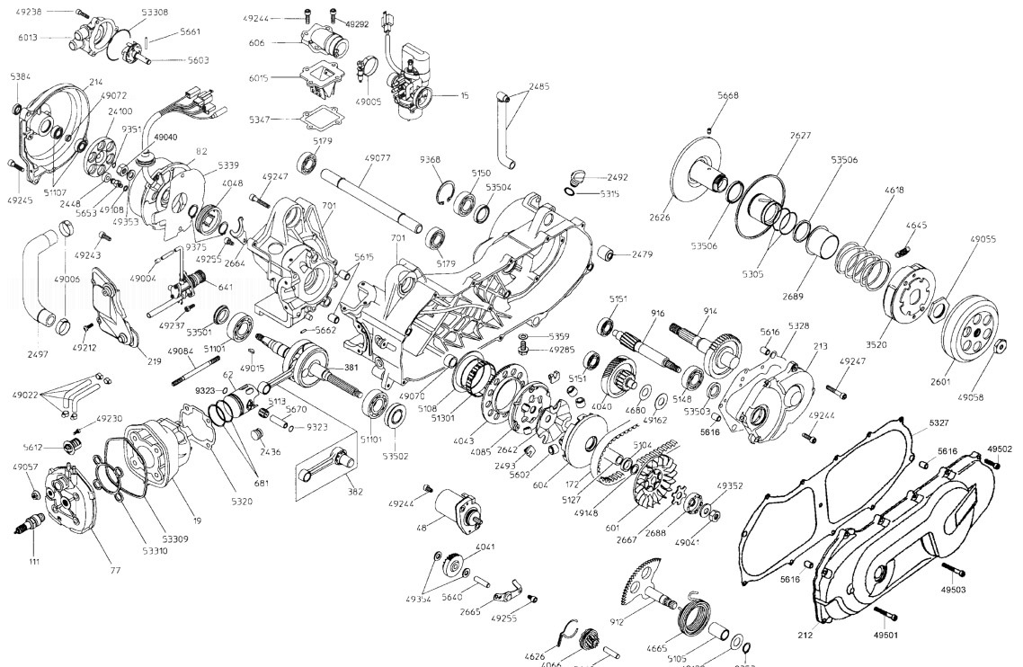 MALAGUTI F15 LC-2D RESTYLING EURO 2 Engine Parts