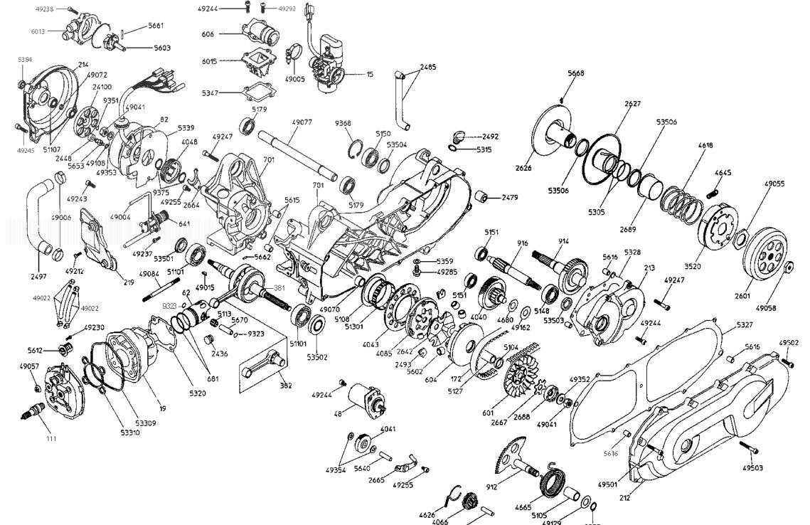 MALAGUTI F15 LC-99 TDS FIREFOX Engine