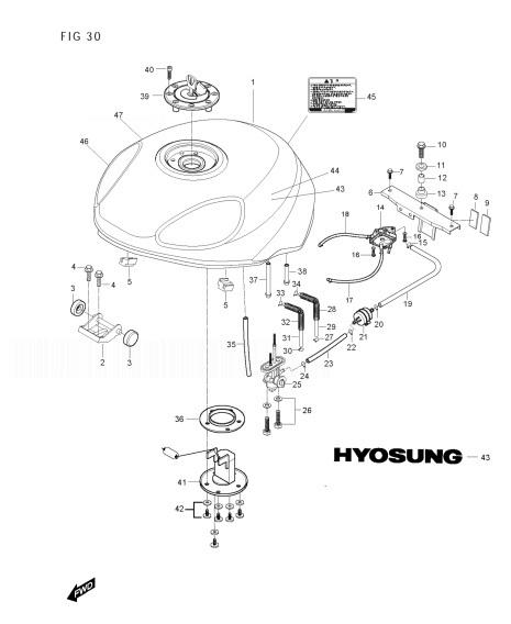 HYOSUNG GT250R COMET Fuel Tank