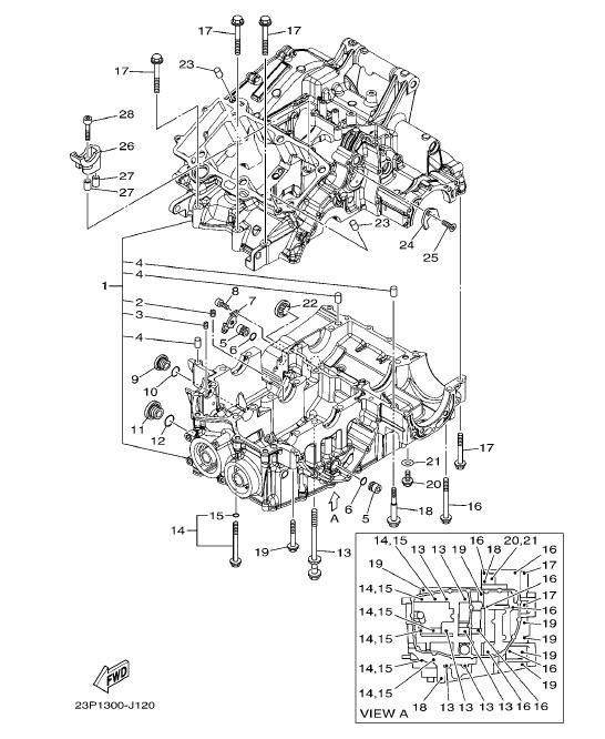 YAMAHA XT1200Z SUPER TENERE Crankcase