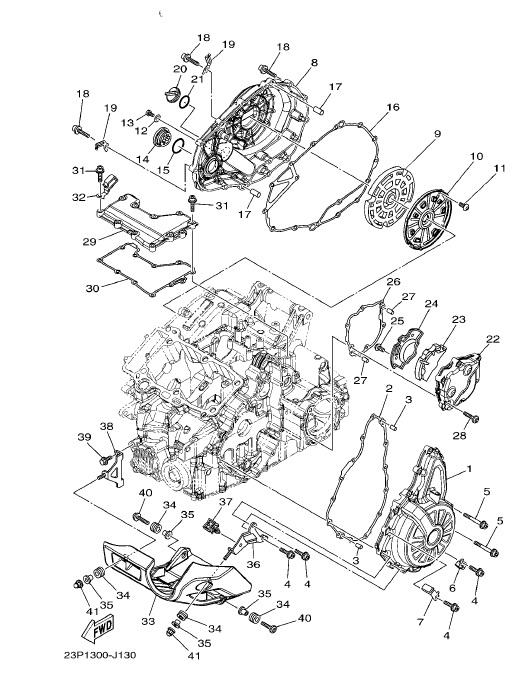 YAMAHA XT1200Z SUPER TENERE Crankcase Cover 1
