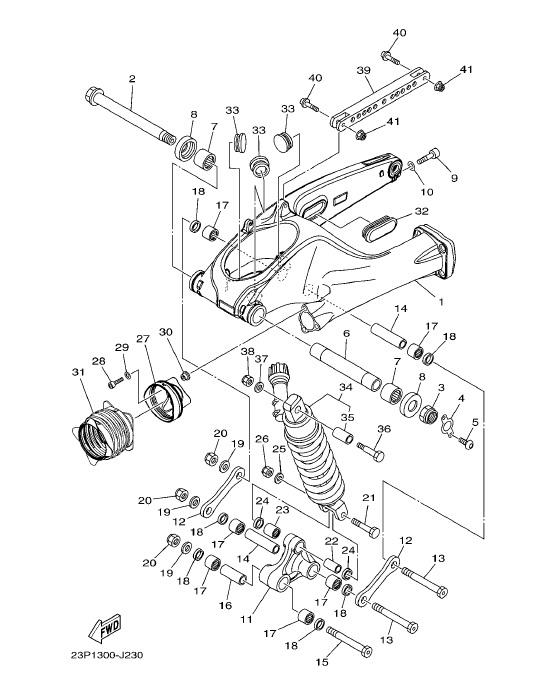 YAMAHA XT1200Z SUPER TENERE Rear Arm & Suspension