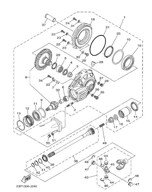 YAMAHA XT1200Z SUPER TENERE Drive Shaft