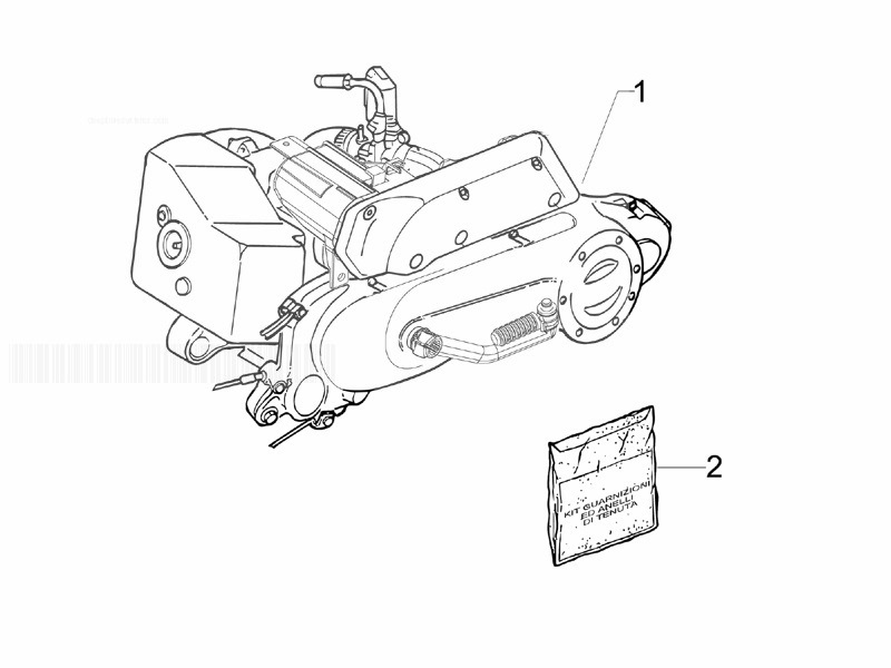 Piaggio Liberty 50 2T MOC Engine