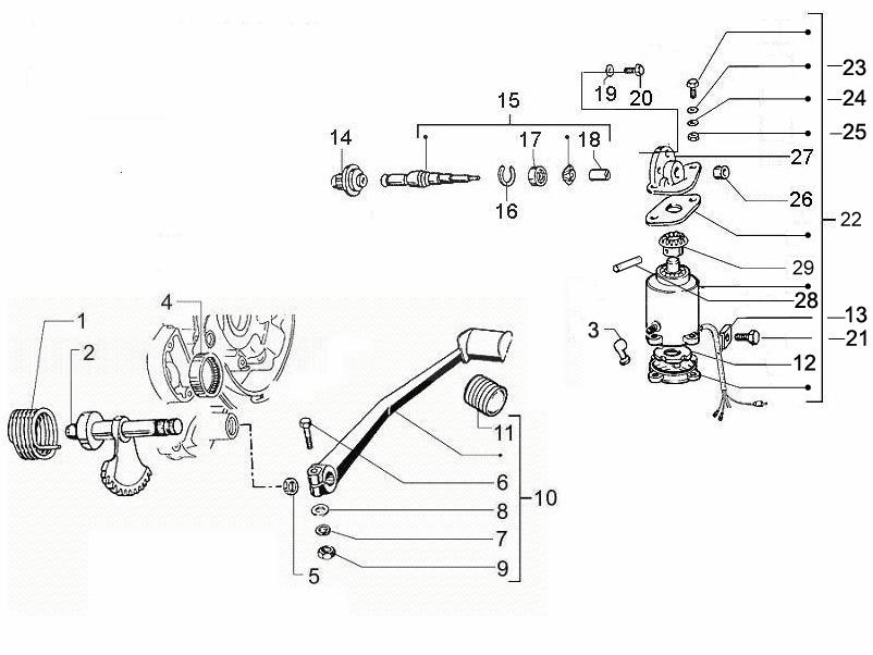 Vespa PX150 Starter