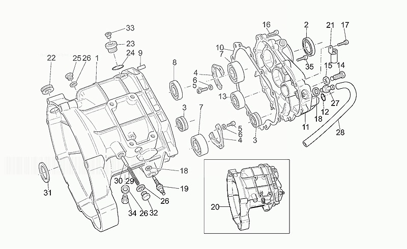 Moto Guzzi Gearbox