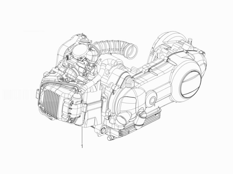 Piaggio Typhoon 125 Euro 3 Engine