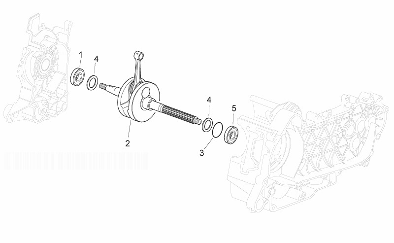 APRILIA ATLANTIC 125 Crankshaft