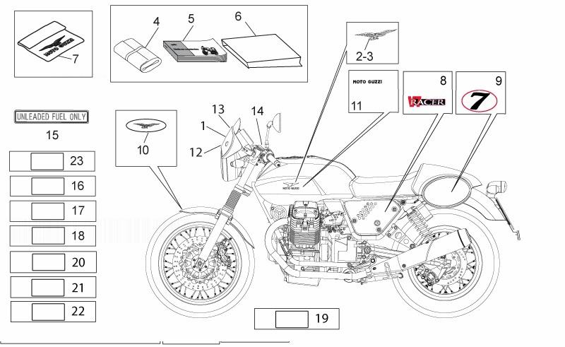 MOTO GUZZI 750 Racer V7 Tool Kit