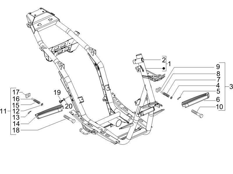 Piaggio NRG Power DT Frame/Bodywork