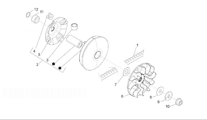 Piaggio Beverly 350 4T 4V IE Sport Touring Pulley