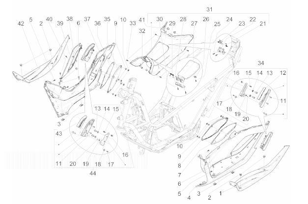 Piaggio MP3 300 YOUrban LT ERL Side Covers