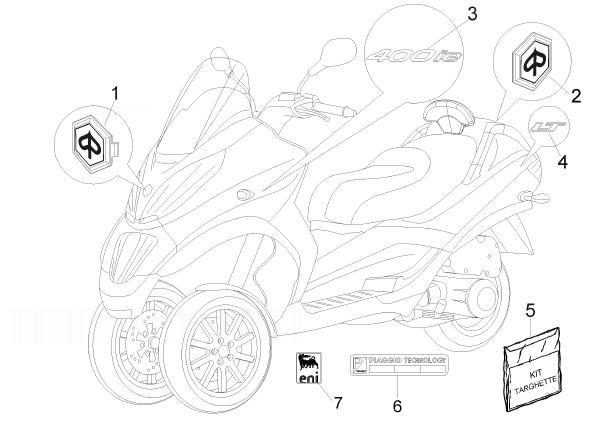 Piaggio MP3 400 ie LT Touring MP3 Touring Stickers Kit
