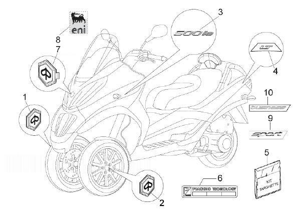 Piaggio Mp3 Body Parts