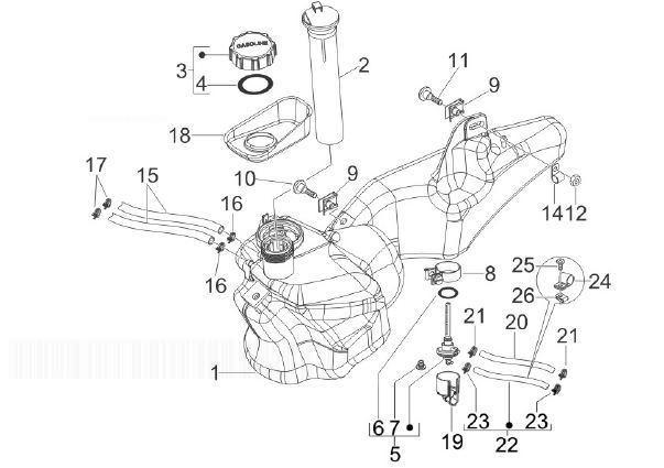 Piaggio Liberty 50 2t Sport Fuel Tank