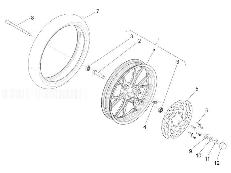 APRILIA RS4 125 4T Front Wheel