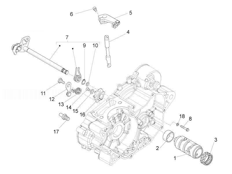 APRILIA RS4 125 4T Gear Box