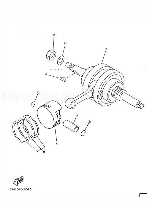 YAMAHA YP250 MAJESTY Crankshaft, Piston
