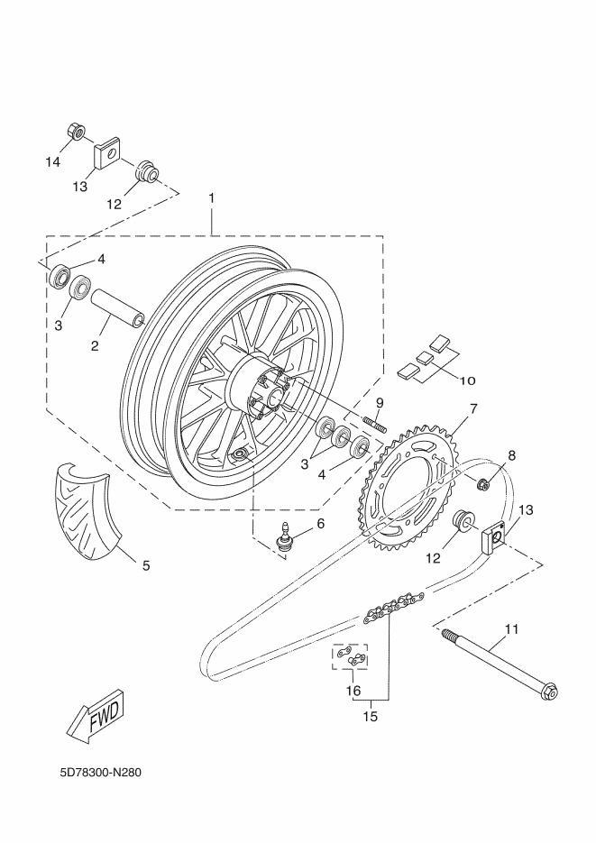 YAMAHA YZFR125 Rear Wheel