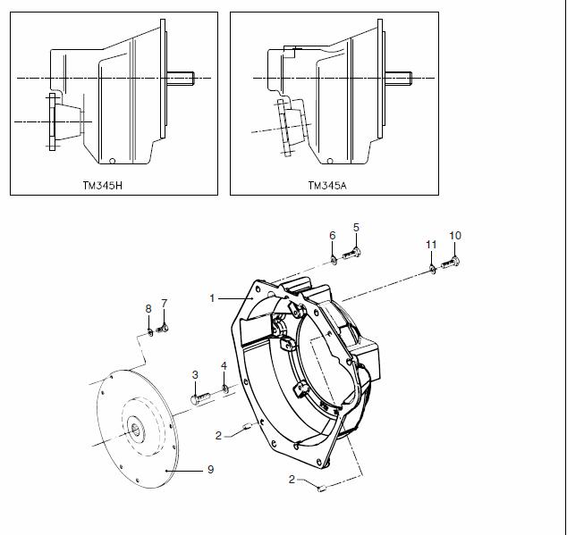 VETUS M4.45 Marine Diesel Engine Flywheel Housing TM345H (a)
