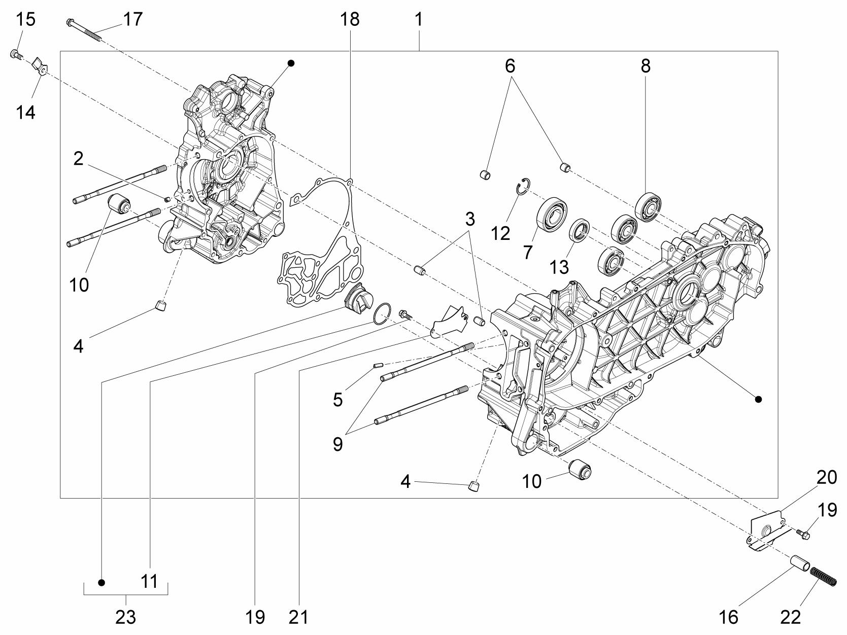 Vespa PRIMAVERA 150 3V Crankcase