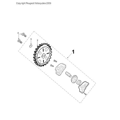 PEUGEOT SPEEDFIGHT 3 125 Ice Blade Oil Pump