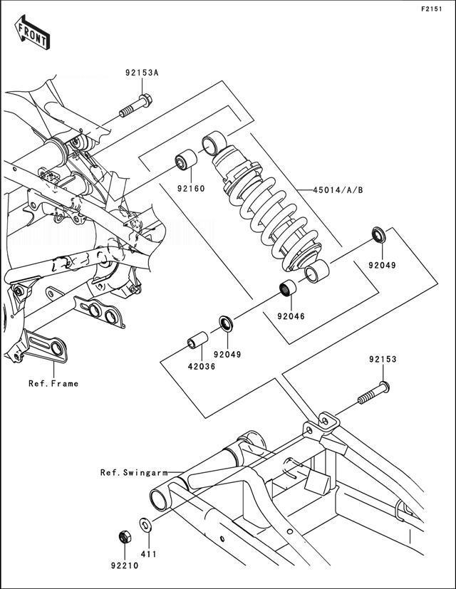KAWASAKI ER6N A6S Suspension/Shock Absorber