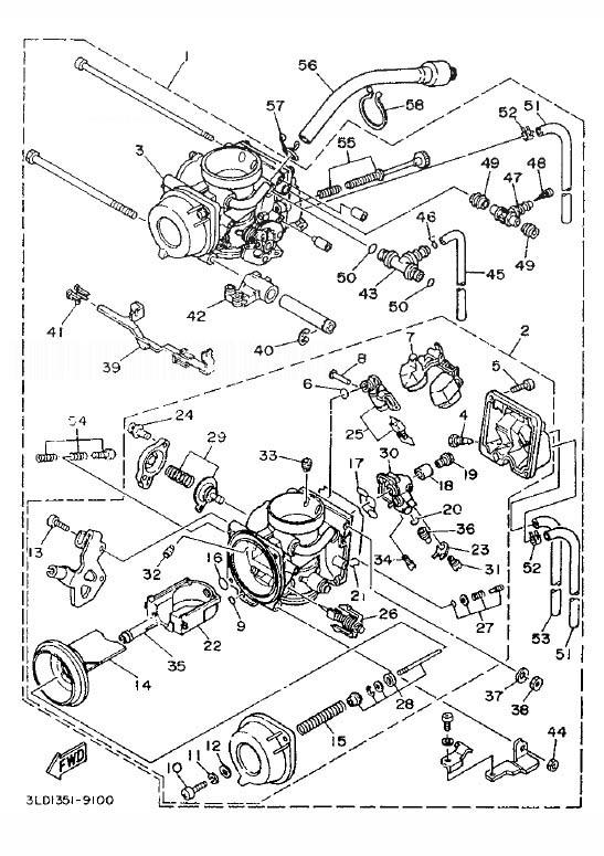 YAMAHA XTZ750 SUPER TENERE Carburetor