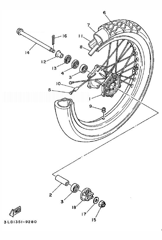 YAMAHA XTZ750 SUPER TENERE Front Wheel