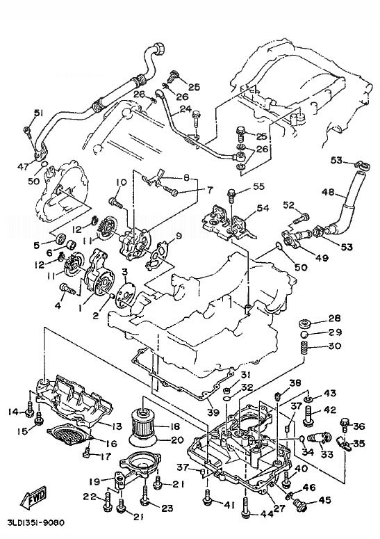 YAMAHA XTZ750 SUPER TENERE Oil Pump