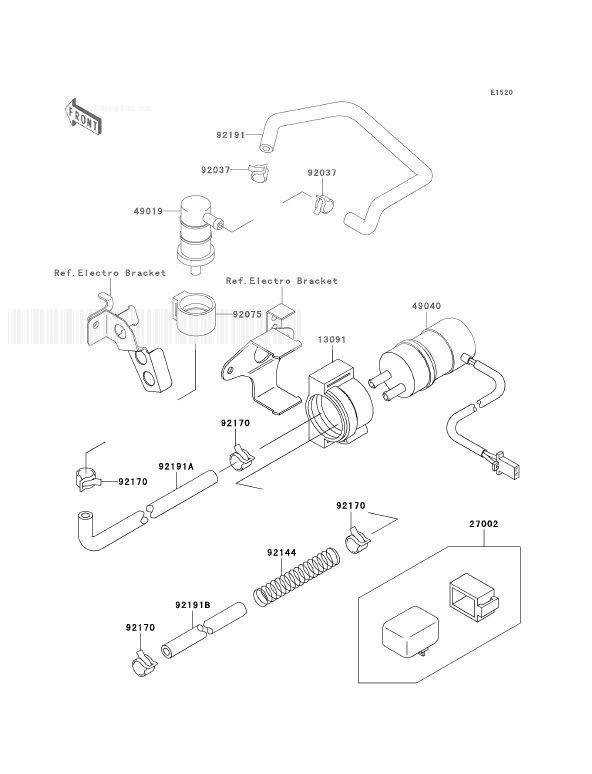 KAWASAKI ZX7R P5 Fuel Pump