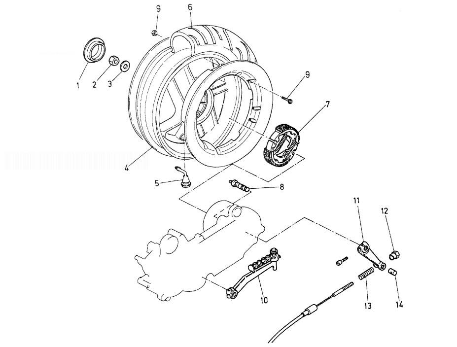 MALAGUTI F15 FIREFOX Rear Wheel