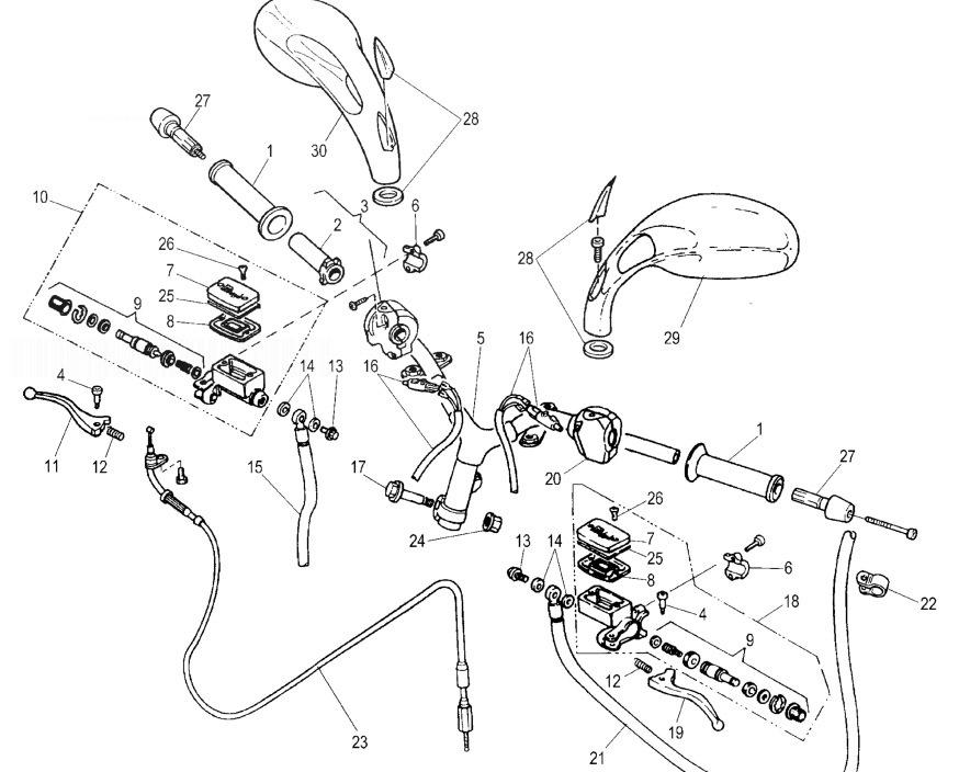 MALAGUTI F12 PHANTOM 100 Handlebar & Controls