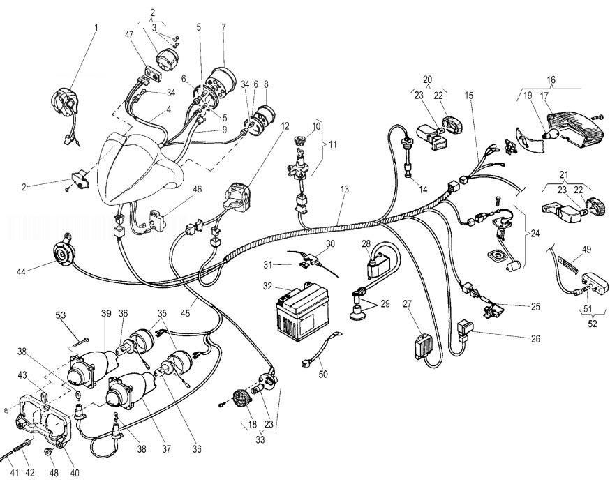MALAGUTI F12 PHANTOM 100 Electrical Parts