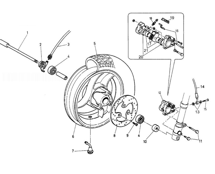 MALAGUTI CROSSER CR1 Front Wheel