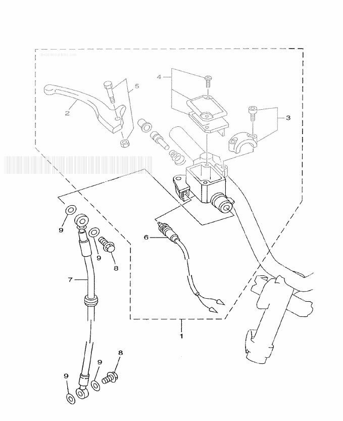 MBK OVETTO 50 (YN50) Front Master Cylinder